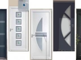 Portes entrées maison alu mixte et PVC